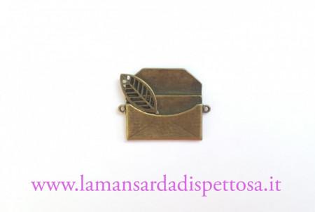 Charm connettore lettera bronzo immagini