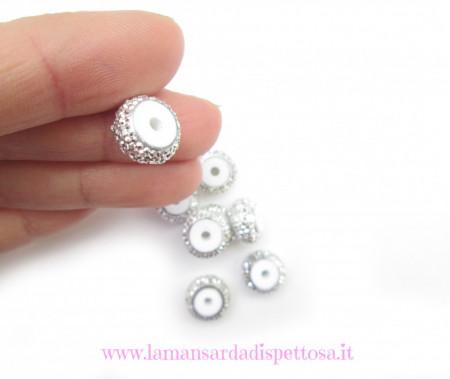Perla diamantata 12x6mm. immagini