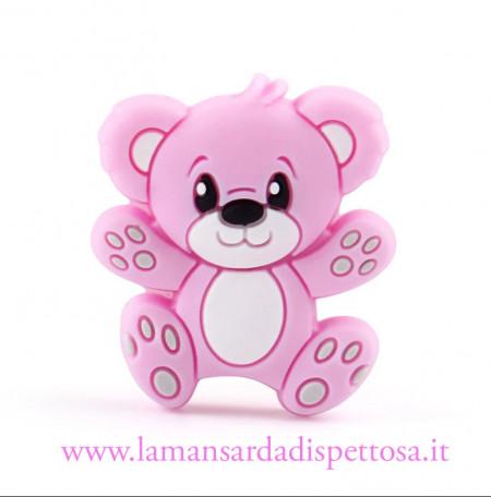 1 perla orsetto in silicone rosa immagini