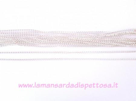 1mt. catena a maglia ritorta color silver 3x2,2mm. immagini