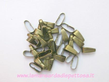 30 ganci per pendenti bronzo puntati immagini