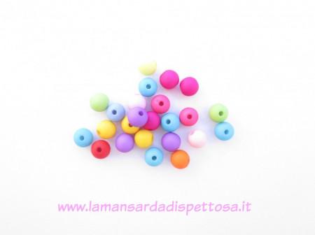 40 perle in acrilico 8mm. immagini