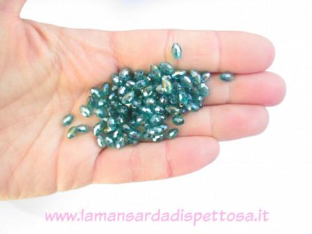 50 cristalli verdi ab color 6x4mm. immagini