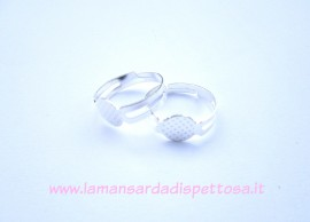 Base per anello silver con piastra immagini