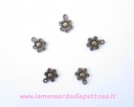 Charm fiorellino bronzo immagini