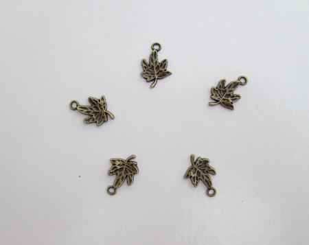 Charm foglia acero bronzo immagini