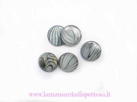 Perla disco in madreperla grigio immagini