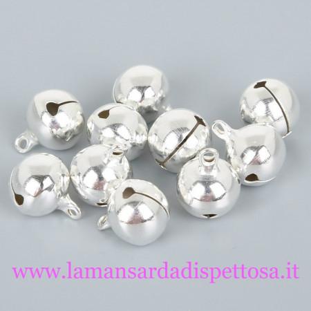 1 campanellino silver 18x14mm. immagini