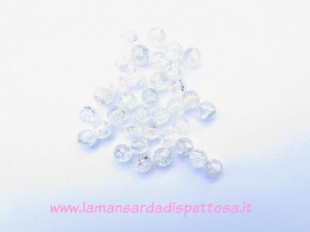 10 perle cracklé bianche 8mm. immagini