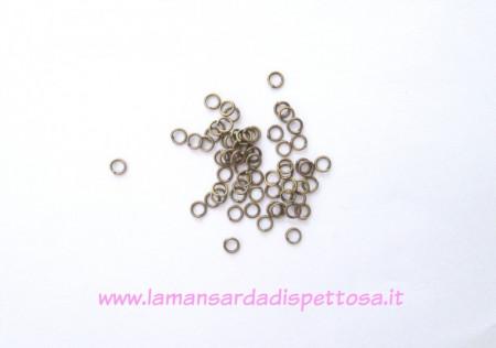100 anellini bronzo 4mm. immagini
