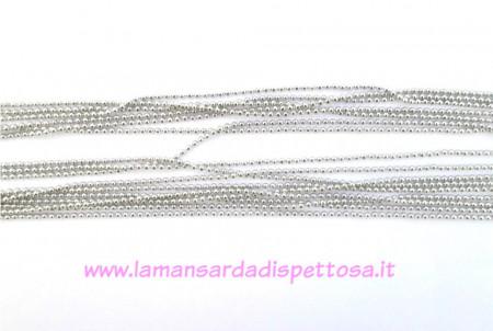 1mt. catena a pallini color argento 2mm. immagini