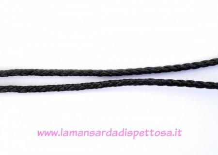 1mt. di cordino nero in nylon 5mm. immagini
