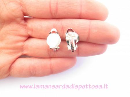2 basi per orecchini a clip silver immagini