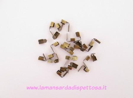 30 chiudifilo fermanastro bronzo 9x5mm. immagini