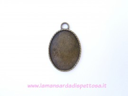 Base cammeo bronzo 30x40mm. immagini