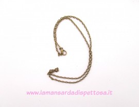 Base per collana bronzo 46cm. immagini