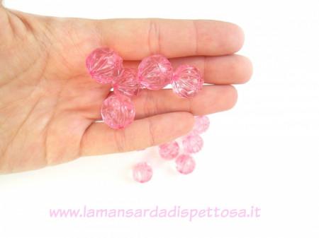 Perla in acrilico rosa 16mm. immagini