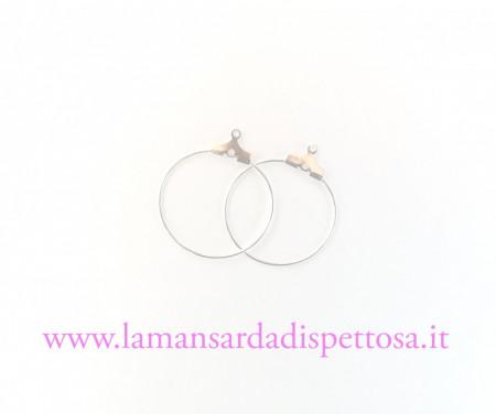 1 coppia di basi per orecchini a cerchio 25mm. immagini