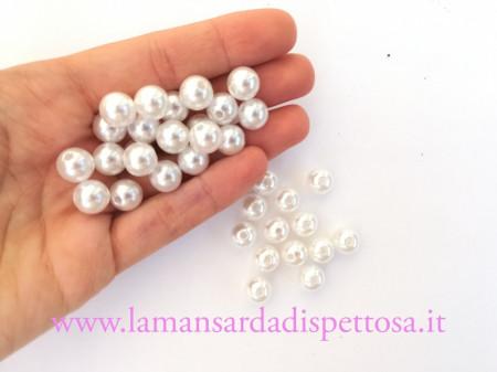 10 perle bianche 10mm. immagini