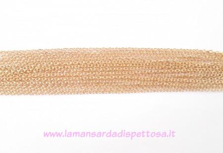 1mt. catenina gold rosé 3x2mm. immagini