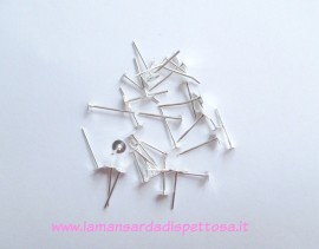 50 basi per orecchini a perno silver 4mm. immagini