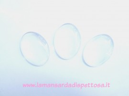 Cupola per cammeo in vetro 4x3cm. immagini