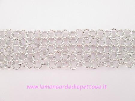 1mt. catena diamantata silver 1,1cm. immagini