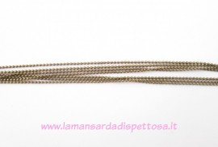 1mt. di catena a pallini bronzo 1,5mm. immagini