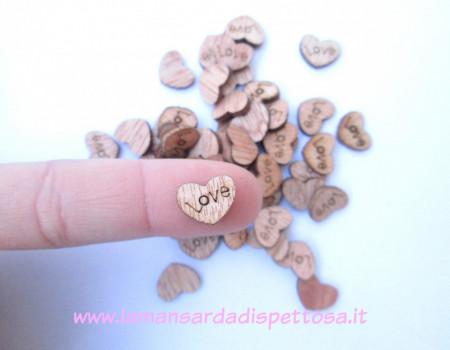 """5 applicazioni per bomboniera in legno """"love"""" immagini"""