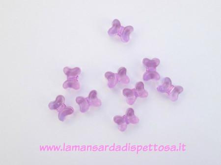 5 perle fiocco in acrilico immagini