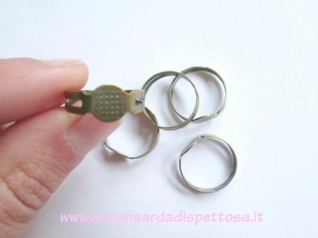 Base per anello bronzo con piastra immagini