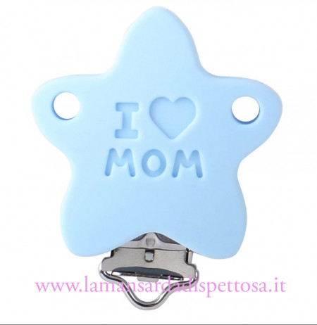 1 clip in silicone stella I love Mum immagini