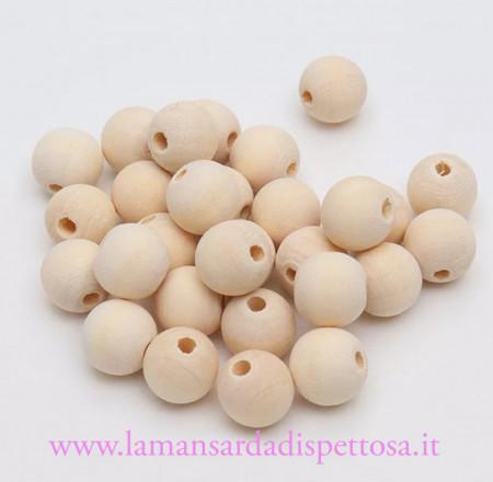 1 perla in legno 16mm. immagini