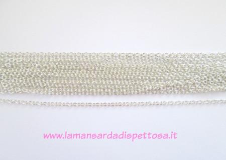1mt. catenina maglia ovale silver 3.5x2.5mm. immagini
