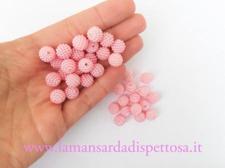 5 perle tonde rosa 10mm. immagini