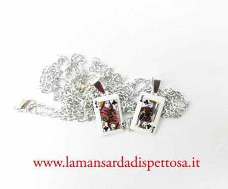 Coppia di collane re e regina immagini