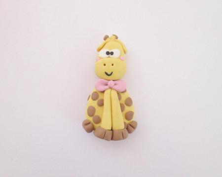 Magnete giraffa in fimo immagini