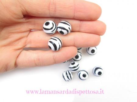 Perla zebrata 12mm. immagini