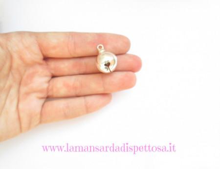1 campanellino silver 24x16mm. immagini
