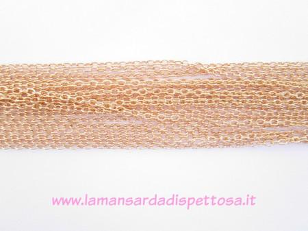 1mt. di catenina color oro rosa 4,5x3mm. immagini