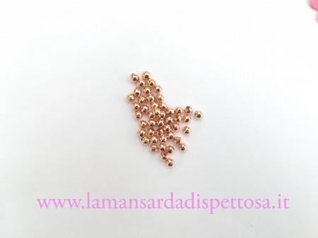 50 perle metalliche oro rosa 4mm. immagini