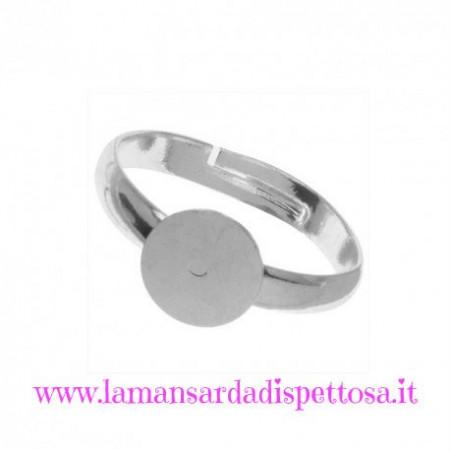 Base per anello silver con piastra 10mm. immagini