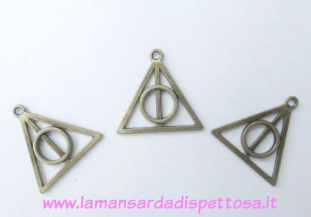 Charm bronzo  'I doni della morte' Harry Potter immagini