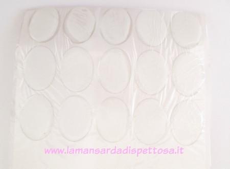 Cupola per cammeo 40x30mm. in resina immagini