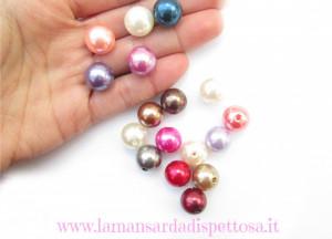 5 perle in acrilico 14mm.