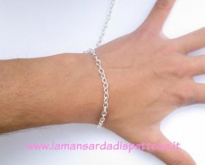 1mt. di catena silver a maglie ovali 5x4mm.