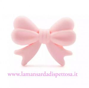 1 fiocco in silicone rosa