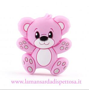 1 perla orsetto in silicone rosa