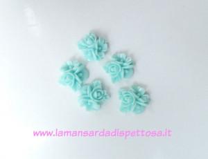 1 coppia cabochon fiori tiffany