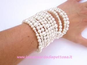 Bracciale giri di perle